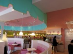 The really cute interior of Boyoyon Sweets Garden.